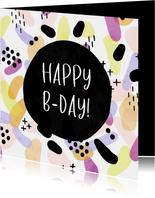 Glückwunschkarte zum Geburtstag Farbpunkte