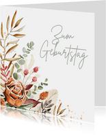 Glückwunschkarte zum Geburtstag mit Blumenbouquet
