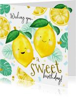 Glückwunschkarte zum Geburtstag Zitronen