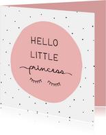 Glückwunschkarte zur Geburt Princess