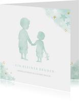 Glückwunschkarte zur Geburt Sohn / kleiner Bruder