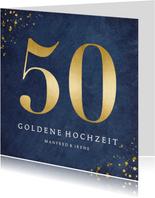 Glückwunschkarte zur goldenen Hochzeit große 50