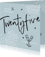 Glückwunschkarte zur Silberhochzeit Twentyfive