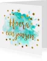 gouden confetti felicitatiekaart