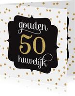 Gouden huwelijk jubileum goudfolie stippen patroon