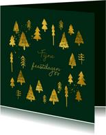 Goudlook geschilderde kerstboompjes en verspetters