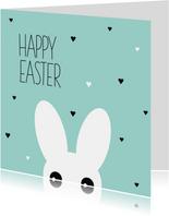 Grappig konijn happy easter