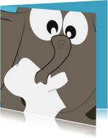 Grappige beterschapskaart met een verkouden olifant - Mocard