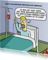 Grappige beterschapskaart met Evert Kwok cartoon