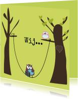 Grappige samenwoonkaart met uilen stel van Mo Cards