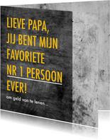Grappige vaderdagkaart met leuke tekst en betonlook