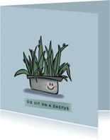 Grappige zomaar-kaart met lieve cactus