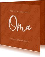 Grußkarte allerliebste Oma mit Zweigen & Foto innen