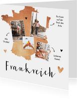 Grußkarte aus Frankreich mit eigenen Fotos & Herzen