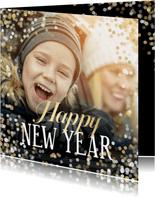 Grußkarte Foto Neujahr 'Happy New Year'
