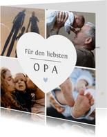 Grußkarte Fotocollage liebster Opa