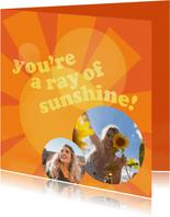 Grußkarte Freundschaft 'Ray of Sunshine'
