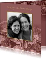 Grußkarte 'happy mothersday' mit Foto und Blumen