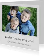 Grußkarte Liebe Grüße Polaroidfoto