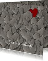 Grußkarte Liebe One in a million