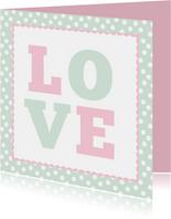 Grußkarte LOVE romantisch