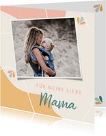 Grußkarte Muttertag grafisch mit Foto