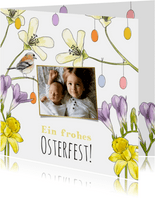 Grußkarte Osterstrauß & Foto