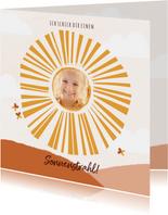 Grußkarte Sonnestrahl mit Foto