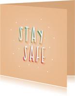 Grußkarte 'Stay safe'