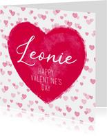 Grußkarte Valentinstag großes Herz & Name