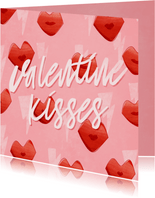 Grußkarte Valentinstag 'Valentine Kisses'