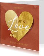 Grußkarte zum Valentinstag Goldenes Herz