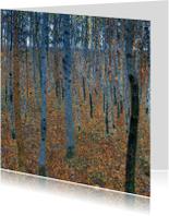 Gustav Klimt. Bos met berkenbomen