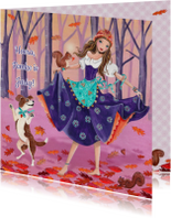 Gypsy Meisje Herfst Hond Jarig