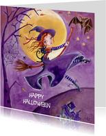 Halloween Feest Heks Illustratie S