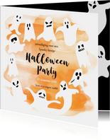 Halloween feestje spoken en waterverf