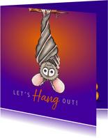 Halloween kaarten Let's hang out!