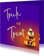 Halloween kaarten Trick or treat
