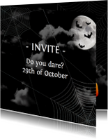 Halloween Uitnodiging Nacht