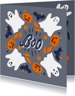 Halloweenkaart Boo