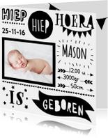 Handlettering geboortekaartje