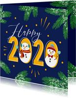 Happy 2020 met deze gezellige sneeuwpoppen