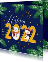 Happy 2022 met deze gezellige sneeuwpoppen