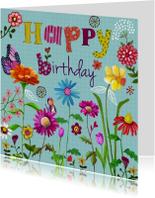 Happy Birthday BLOEM Bloemen Vrolijk B
