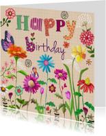Happy Birthday BLOEM Bloemen Vrolijk E