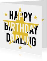 Happy Birthday Darling ster