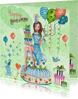 Happy Birthday Girl Cake