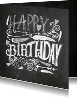 Happy Birthday handlettering