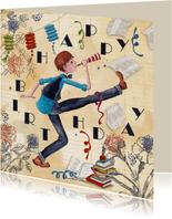 Happy Birthday Jongen Feest Illustratie