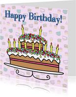 Happy Birthday leeftijd TAART
